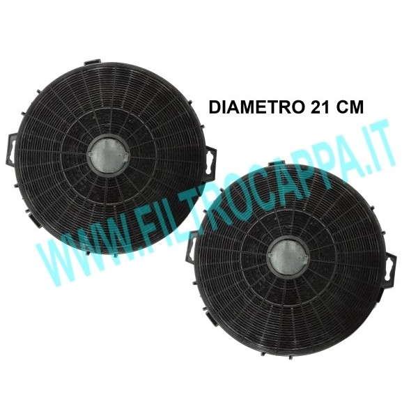 CHARCOAL FILTER ( 2 PCS ) DIAMETER 21 COOKER HOODS GENUINE SPARE PART